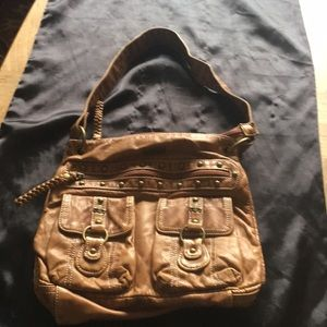 Chloe' Made In Italy Brown Shoulder Bag Preowned